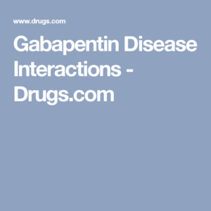 Drug-disease interactions