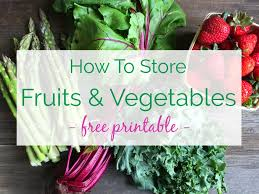 Store fruits and vegetables